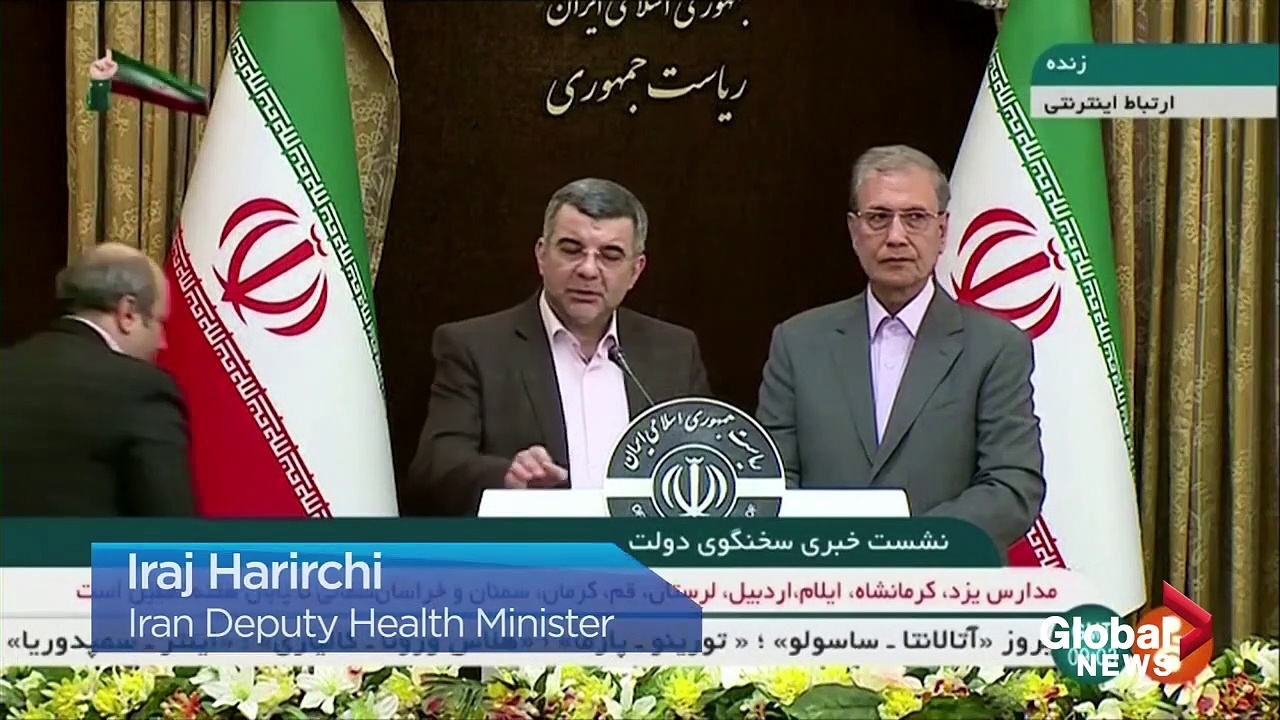 Coronavirus outbreak_ Iran health minister appears ill at news conference before
