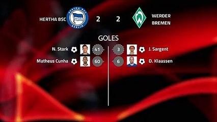 Resumen partido entre Hertha BSC y Werder Bremen Jornada 25 Bundesliga