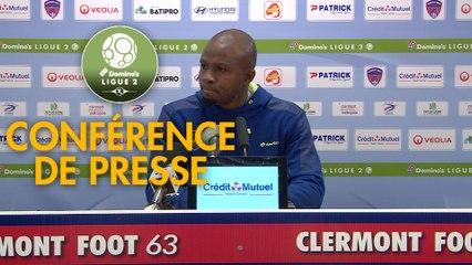 Conférence de presse Clermont Foot - FC Sochaux-Montbéliard (2-0) : Pascal GASTIEN (CF63) - Omar DAF (FCSM) - 2019/2020