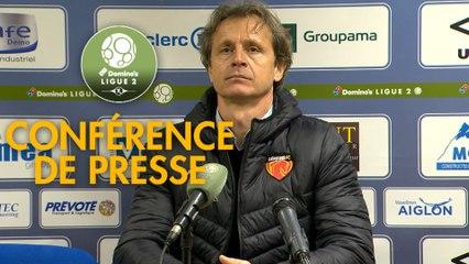 Conférence de presse FC Chambly - Le Mans FC (2-2) : Bruno LUZI (FCCO) - Richard DEZIRE (LEMANS) - 2019/2020