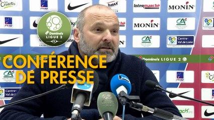 Conférence de presse Châteauroux - SM Caen (2-1) : Nicolas USAI (LBC) - Pascal DUPRAZ (SMC) - 2019/2020
