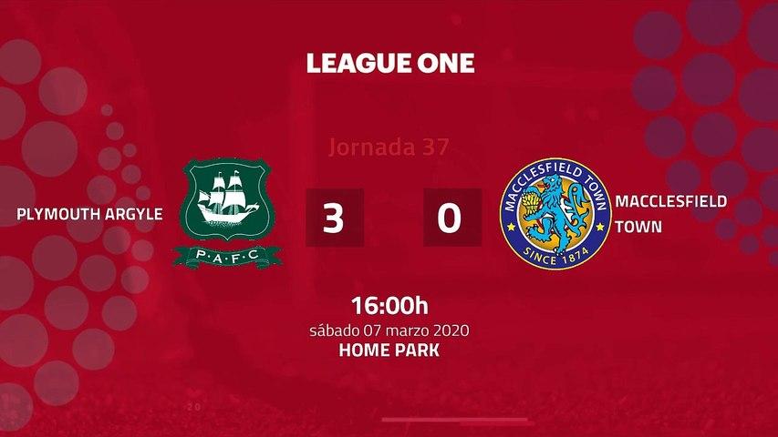 Resumen partido entre Plymouth Argyle y Macclesfield Town Jornada 37 League Two