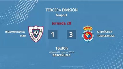 Resumen partido entre Ribamontán al Mar y Gimnástica Torrelavega Jornada 28 Tercera División