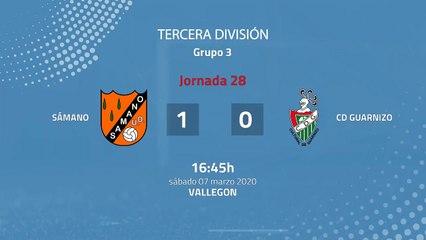 Resumen partido entre Sámano y CD Guarnizo Jornada 28 Tercera División