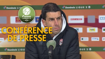 Conférence de presse Rodez Aveyron Football - EA Guingamp (2-1) : Laurent PEYRELADE (RAF) -  (EAG) - 2019/2020