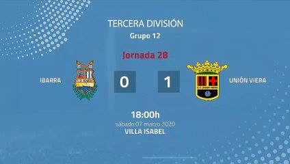 Resumen partido entre Ibarra y Unión Viera Jornada 28 Tercera División