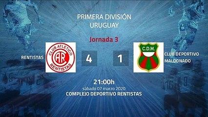 Resumen partido entre Rentistas y Club Deportivo Maldonado Jornada 3 Apertura Uruguay