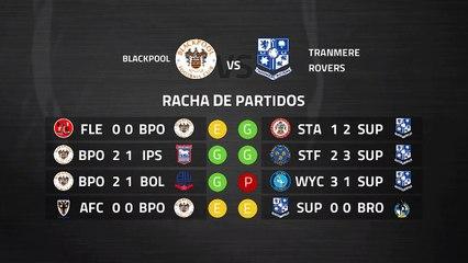 Previa partido entre Blackpool y Tranmere Rovers Jornada 29 League One