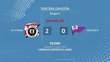 Resumen partido entre CD Vitoria y Santurtzi Jornada 28 Tercera División
