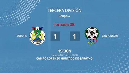 Resumen partido entre Sodupe y San Ignacio Jornada 28 Tercera División