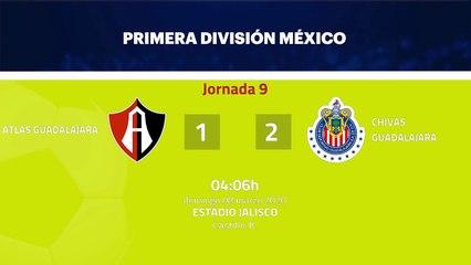 Resumen partido entre Atlas Guadalajara y Chivas Guadalajara Jornada 9 Liga MX - Clausura
