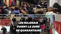 Les Milanais se ruent à la gare pour quitter la ville avant le début de la quarantaine