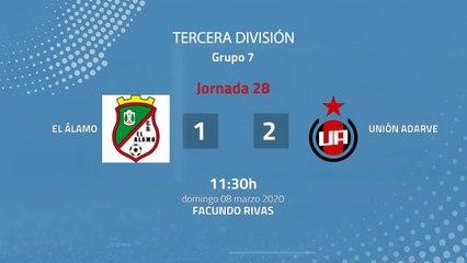 Resumen partido entre El Álamo y Unión Adarve Jornada 28 Tercera División