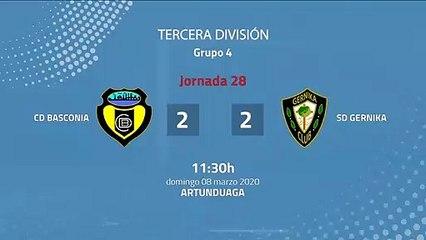 Resumen partido entre CD Basconia y SD Gernika Jornada 28 Tercera División