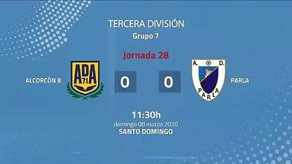 Resumen partido entre Alcorcón B y Parla Jornada 28 Tercera División
