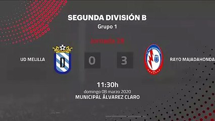 Resumen partido entre UD Melilla y Rayo Majadahonda Jornada 28 Segunda División B