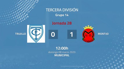 Resumen partido entre Trujillo y Montijo Jornada 28 Tercera División