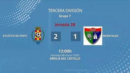 Resumen partido entre Atlético de Pinto y Moratalaz Jornada 28 Tercera División