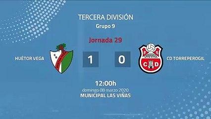 Resumen partido entre Huétor Vega y CD Torreperogil Jornada 29 Tercera División