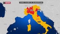 Coronavirus : une partie de l'Italie du Nord placée sous cloche