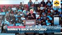 Senator Bernie Sanders Back In Chicago: Rally In Grant Park