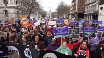 Politicians and celebrities turn out for Women's Day March in London
