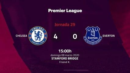 Resumen partido entre Chelsea y Everton Jornada 29 Premier League