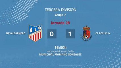 Resumen partido entre Navalcarnero y CF Pozuelo Jornada 28 Tercera División