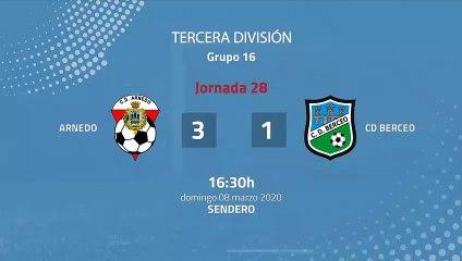 Resumen partido entre Arnedo y CD Berceo Jornada 28 Tercera División