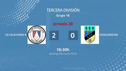 Resumen partido entre Cd Calahorra B y Casalarreina Jornada 28 Tercera División