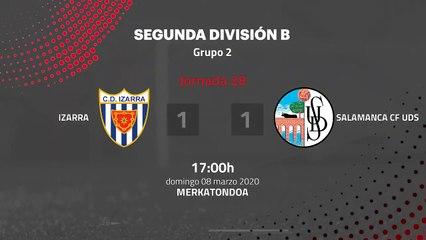 Resumen partido entre Izarra y Salamanca CF UDS Jornada 28 Segunda División B