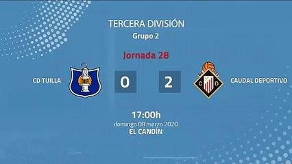 Resumen partido entre CD Tuilla y Caudal Deportivo Jornada 28 Tercera División