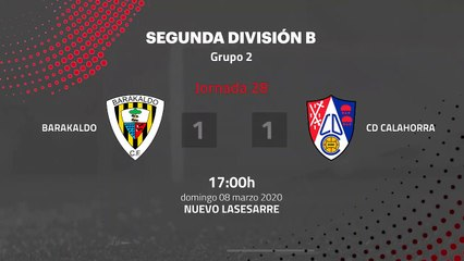Resumen partido entre Barakaldo y CD Calahorra Jornada 28 Segunda División B