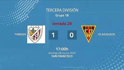 Resumen partido entre Torrijos y CD Azuqueca Jornada 28 Tercera División