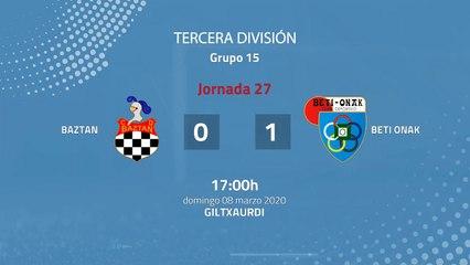 Resumen partido entre Baztan y Beti Onak Jornada 27 Tercera División