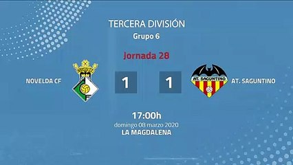 Resumen partido entre Novelda CF y At. Saguntino Jornada 28 Tercera División