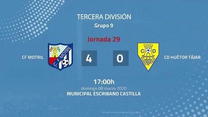 Resumen partido entre CF Motril y CD Huétor Tájar Jornada 29 Tercera División