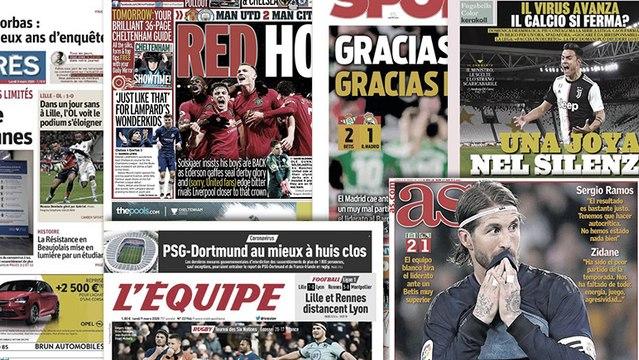 Le Real Madrid tombe de haut, Manchester rouge de bonheur