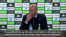 'Worst game of the season' Zidane left fuming after Real Madrid 2-1 defeat at Betis