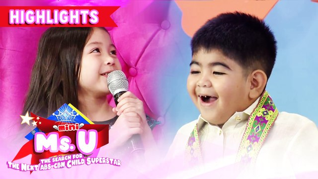 Mini Ms. U candidate Aleia admits to have a crush on Yorme | It's Showtime Mini Miss U