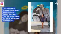 Vanessa Bryant Poses in Front of Kobe and Gianna Mural with Remaining Daughters