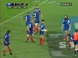Chabal Plaquage contre Les All Blacks