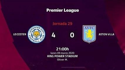 Resumen partido entre Leicester y Aston Villa Jornada 29 Premier League