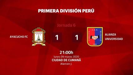Resumen partido entre Ayacucho FC y Alianza Universidad Jornada 6 Perú - Liga 1 Apertura