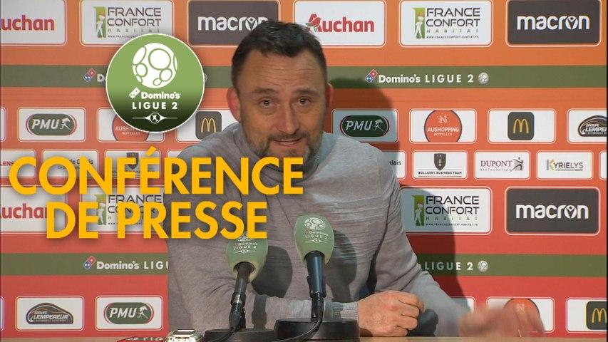 Conférence de presse RC Lens - US Orléans (1-0) : Philippe  MONTANIER (RCL) - Didier OLLE-NICOLLE (USO) - 2019/2020