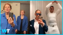 Elizabeth Warren AND JLo Help Make Tik Tok Challenge VIRAL!