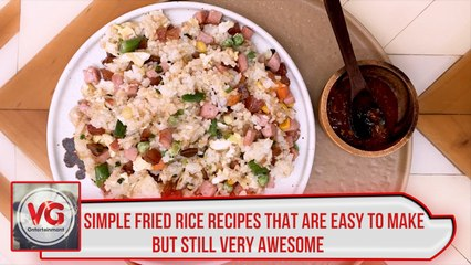 Simple fried rice recipes that are easy to make but still very awesome