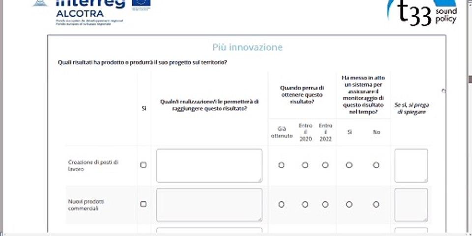 Tutorial IT questionario valutazione d'impatto