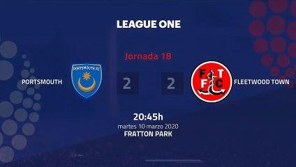 Resumen partido entre Portsmouth y Fleetwood Town Jornada 18 League One