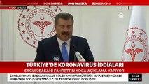 Sağlık Bakanı Koca: Türkiye'de bir kişide koronavirüs tespit edildi